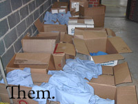 Boxes of Uniforms