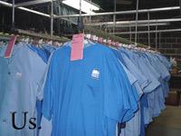Uniforms on Rack