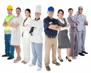 Various business uniforms